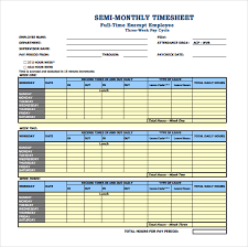 13 monthly timesheet templates u2013 free sample example format
