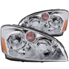 nissan altima 2005 tail light cover anzo usa nissan altima 05 06 crystal headlights chrome