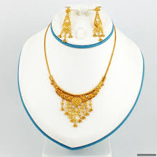 small gold necklace images 22ct indian gold small necklace set gold jewellery a1 jewellers JPG