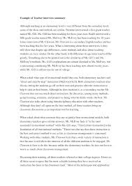 Narrative Essay Sample Papers Cover Letter Examples Of Interview Essays Examples Of Teacher