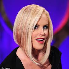 haircuts long in front cropped in back cropped jenny mccarthy revealed a pink streaked asymmetric cut