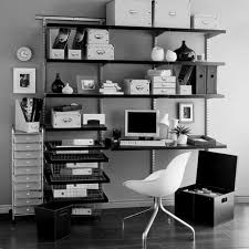 home office shelving in a cupboard ideas small business space