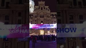 philadelphia light show 2017 philadelphia city hall light show december 8 2017 youtube