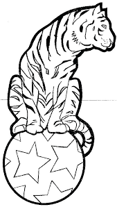 Circus Coloring Pages Tiger Vonsurroquen Me Circus Coloring Page