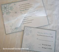 Do It Yourself Wedding Invitation Kits Printable Snowflake Wedding Invitations Template Print And Create