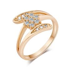 rings design new pretty design ring for women top quality 18k yellow gold