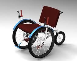 Drive Wheel Chair Three Wheeled Front Wheel Drive Wheelchair Stl Step Iges