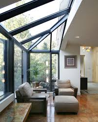 Sunroom Extension Ideas Home Design Floor To Ceiling Windows In Cool Contemporary Sunroom