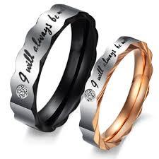 steel promise rings images Promise ring for men titanium stainless steel mens ladies couple jpg