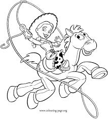 toy story jessie bullseye coloring