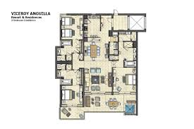 Viceroy Floor Plans by 3 Br Residence Ocean View At The Four Seasons Anguilla Resort