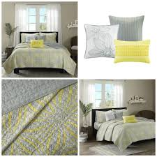 King Size Coverlet Sets King Size Yellow Gray Floral Quilt Coverlet Bedding Set 6 Piece