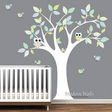 stickers chambre d enfant children owl wall decals nursery decal nursery tree with owls and
