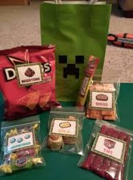 minecraft goody bags minecraft party treat bag goodies i made this