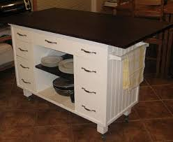 how to make a desk from kitchen cabinets diy kitchen island from old desk love the wheels cover the