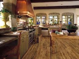 wood flooring in kitchen kitchen floor wood and stone love this
