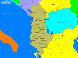 Map Of Albania Albania Political Map A Learning Family