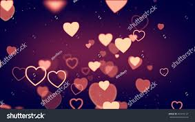 colorful hearts shape wire symbols flying stock illustration