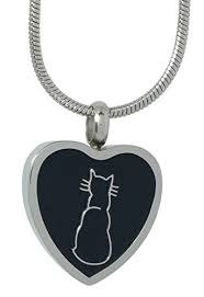 pet urn necklace cat urn necklace for cremation ashes stainless steel heart shape