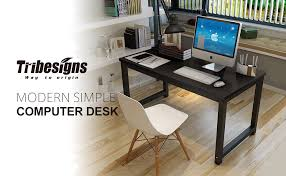 How To Assemble A Computer Desk Tribesigns Modern Simple Style Computer Desk Pc