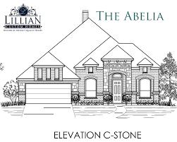 the abelia the grove new home floor plan midlothian texas