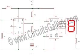 Simple Circuit Diagrams Beginners Simple Electronic Random Number Generator Circuit Using 555 And 4026