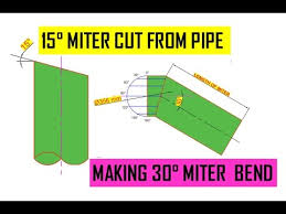 how to cut a 15 degree angle on pipe 30 miter bend from pipe