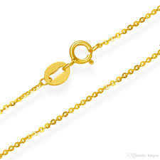 gold necklace fine jewelry images Fine jewelry 100 solid 18k yellow gold chain pure au750 necklace jpg