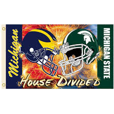 Michigans Flag Bsi Products Ncaa 3 Ft X 5 Ft Michigan Michigan State Rivalry