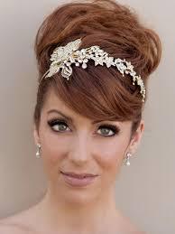 brides wedding flower headbands for long short haircuts fashion fuz