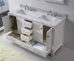 Bathroom Vanity 60 Inch Double Sink by Virtu Gd 50060 Wmsq Wh Caroline Avenue Double Bathroom Vanity