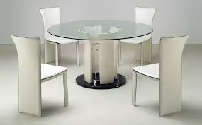 table magnificent round glass extending dining table and chairs