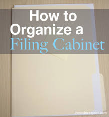 How To Organize A Filing Cabinet The Order Expert - Home office filing ideas