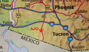 Yuma Az Map Finding Us Ajo Arizona