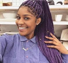 grey and purple combined together style box breads 51 hot poetic justice braids styles purple box braids braided