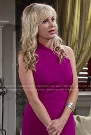 ashley s hairstyles from the young and restless wornontv ashley s magenta pencil dress on the young and the