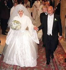 the top 14 tackiest celebrity wedding dresses of all time