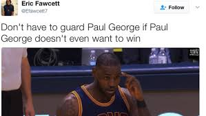 Paul George Memes - 11 funniest tweets about paul george air balling a potential game