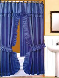 Fabric Shower Curtains With Matching Window Curtains Curtain Awesome Double Swag Shower Curtain Wonderful Double Swag
