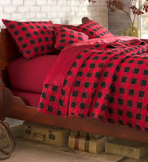 Red And Black Bedroom by Buffalo Plaid Quilt Set Add Cabin Style To Your Bedroom With
