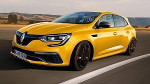 renault yellow 2017 renault megane rs render sees into the future