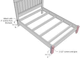 Building A Platform Bed With Legs by Ana White Mom U0027s Fancy Farmhouse Bed Diy Projects