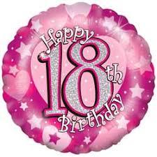 balloons for 18th birthday balloons 18th birthday pink balloon 9 95