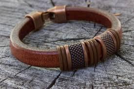 leather bracelets for men mens leather bracelet copper gifts for men bracelet for dad