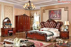 bed and side table set leather bed bedroom set royal style bedroom furniture hotel