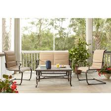 Veranda Metal Patio Loveseat Glider by Fire Pit Sets Outdoor Lounge Furniture The Home Depot