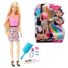 put rainbow color barbie doll u0027s hair simple