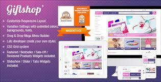 responsive magento theme gala gift shop by tvlgiao themeforest