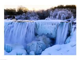 waterfall frozen winter american falls niagara falls