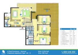 Floor Plans For Apartments 3 Bedroom by Floor Plan Of Al Reef Downtown Al Reef Village